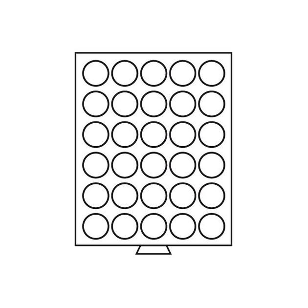 Бокс Leuchtturm для монет (диаметр ячейки 39 мм)