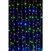 Гирлянда штора 3x6 м 600 LED синий, красный, желтый, зеленый, фото 2