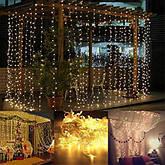 Гирлянда штора 3x3 м 300 LED теплый белый, фото 3