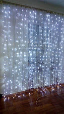 Гирлянда штора 3x3 м 300 LED белый холодный, фото 3