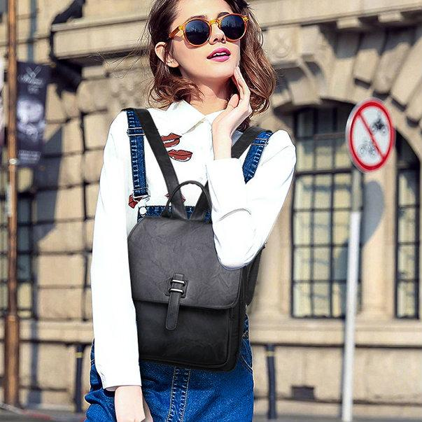 классический женский рюкзак черный