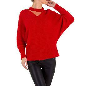 Женский свитер травка с рукавами летучая мышь Voyelles (Италия), Красный