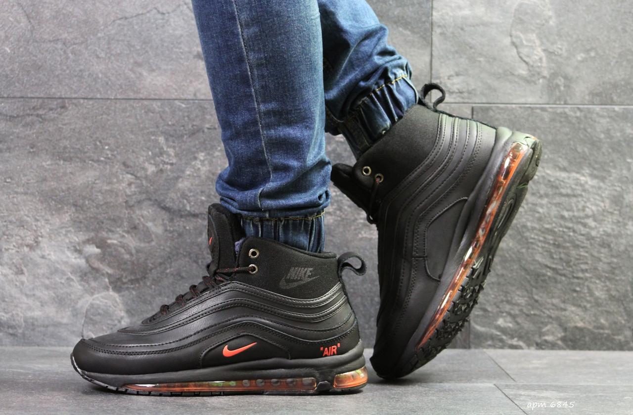 Высокие зимние кроссовки Nike air max 97,зимние,черные 41,44,45р