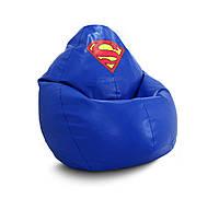 """Кресло мешок груша PufOn, """"Супермен"""" Экокожа, XL"""