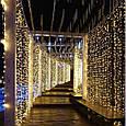 Гирлянда штора 3x6 м 600 LED теплый белый, фото 2