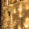 Гирлянда штора 3x6 м 600 LED теплый белый, фото 4