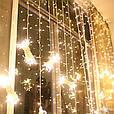 Гирлянда штора 3x3 м 300 LED теплый белый, фото 7