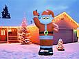 Надувной Дед Мороз Новогодняя скульптура с led подсветкой  Высота 5 м., фото 4