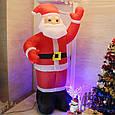 Надувной Дед Мороз Новогодняя скульптура с led подсветкой  Высота 5 м., фото 5