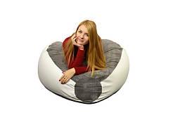 Кресло мешок PufOn, Гибрид XL, Белый, Серый