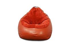Кресло мешок PufOn, Гибрид L, Красный, Красный