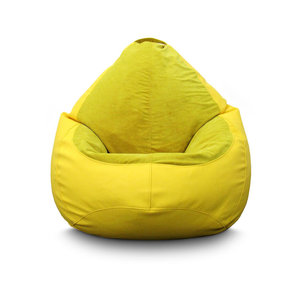 Кресло мешок PufOn, Гибрид L, Желтый, Желтый