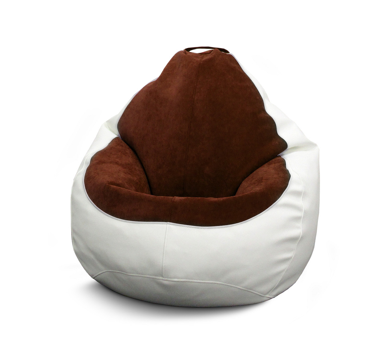 Кресло мешок PufOn, Гибрид L, Белый, Коричневый