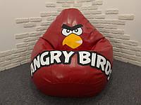 Детское кресло мешок PufOn, Angry Birds Экокожа XXL
