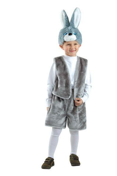 Дитячий маскарадний костюм зайчика русака для хлопчика або дівчинки карнавальний костюм для свята