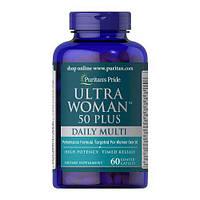 Витамины для женщин старше 50 лет Puritan's Pride Ultra Woman 50 Plus Daily Multi Timed Release 60к.
