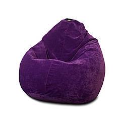 Бескаркасное кресло мешок Флок PufOn, L, Фиолетовый, Фиолетовый
