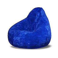 Безкаркасне крісло мішок Флок PufOn, L, Синій, Синій