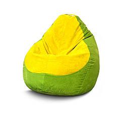 Бескаркасное кресло мешок Флок PufOn, L, Лайм, Желтый