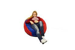 Бескаркасное кресло мешок Флок PufOn, L, Красный, Синий