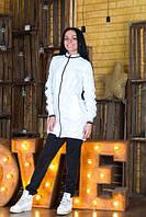 Белая спортивная ветровка женская Barmin h-50617
