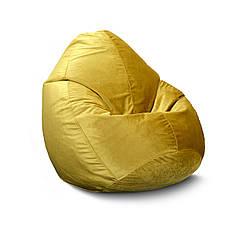 Бескаркасное кресло мешок Флок PufOn, L, Золотой, Золотой