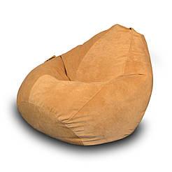 Безкаркасне крісло мішок Флок PufOn, L, Бежевий, Бежевий