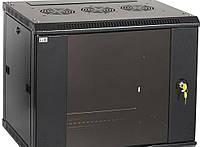 """ITK Шкаф настенный 19"""" LINEA W, 6U, 600x600 мм, стеклянная передняя дверь, черный"""