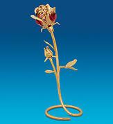 Позолоченные Розы, Цветы с кристаллами Сваровски