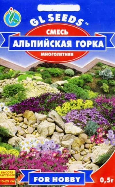 Цветочная смесь Альпийская горка - 0.5г - Семена цветов