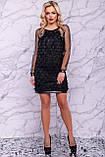 Оригинальное нарядное  платье футляр 42-48р, фото 3