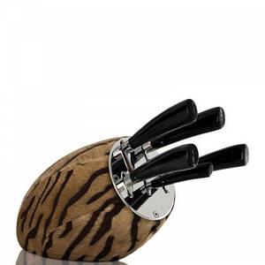 Набор ножей в блоке DEL&BEN Sense Marrone1041