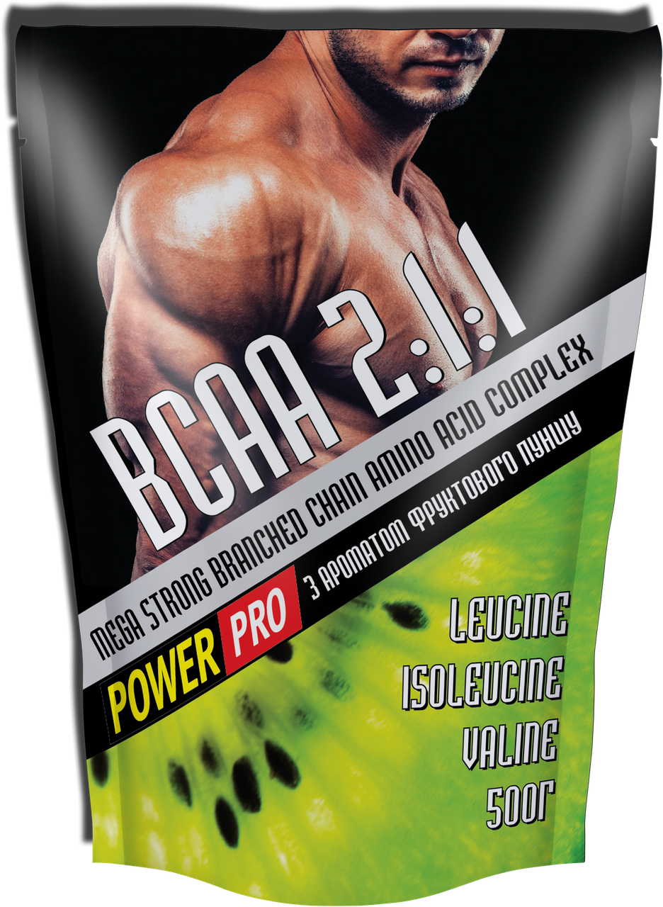 Аминокислоты Power Pro - BCAA 2:1:1 Mega Strong (500 грамм) fruit punch/фруктовый пунш