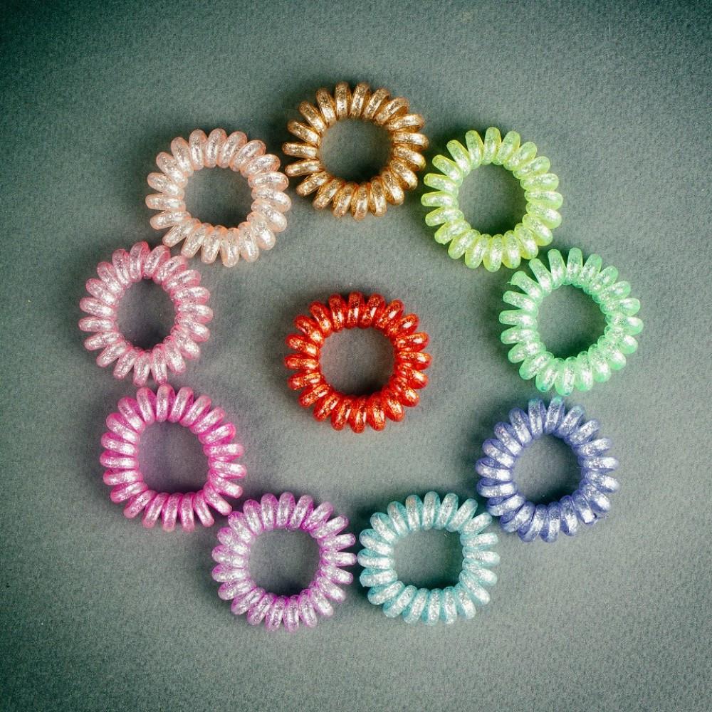 """Резинка для волос детская """"Спиралька"""" набор 10 шт."""