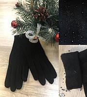 """Женские перчатки – трикотаж на меху """"Олень"""""""