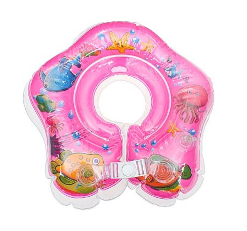 """Надувной круг с погремушкой для купания малышей ТМ """"Бусинка"""""""