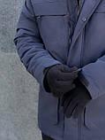 """Парка мужская зимняя черная   Winter Parka """"Arctic""""+ Перчатки в подарок, фото 7"""