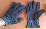 Флисовые перчатки зимние - Польша (REIS) черные, фото 2