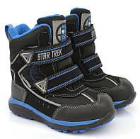 Термоботинки для мальчика р.27-32 ТМ B&G-Termo арт. 187-58 черно-синий, фото 1