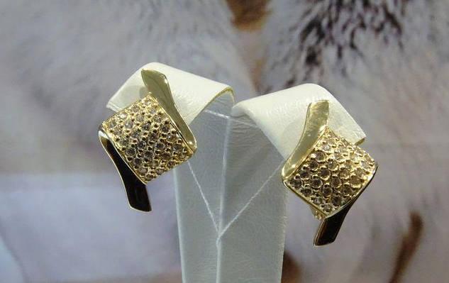 Золотые серьги. Классика