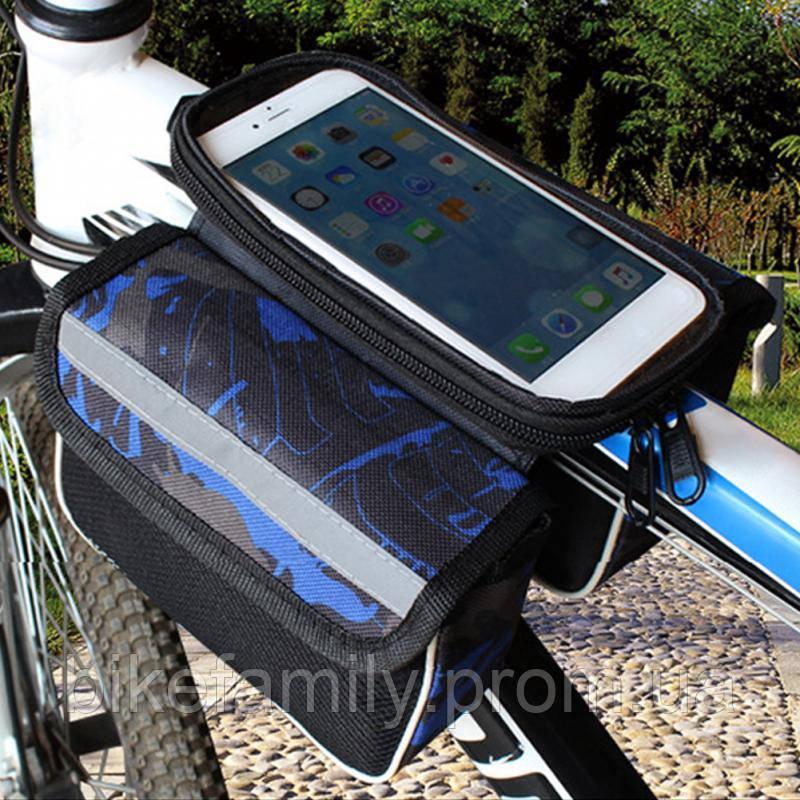 Велосумка на раму для мобильного телефона