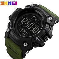 Спортивные электронные мужские часы Skmei 1384 Green