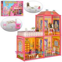 Дом Барби 6984 АРИНА двухэтажный на 3 комнаты  Кор-ка 60х42см
