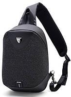 Стильный однолямочный рюкзак Arctic Hunter XB00049 для бизнеса и путешествий, влагозащищённый, 8л