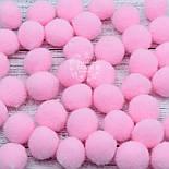 Плюшевые помпоны  розового цвета 20 мм, упаковка 20 шт, фото 2