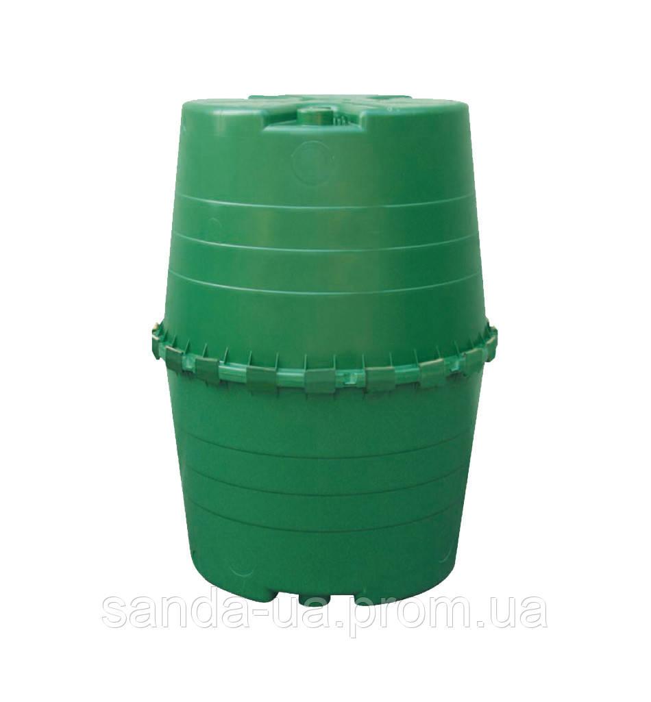 Емкость для сбора дождевой воды, зеленый, 1300л