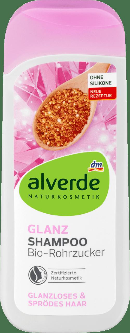 Шампунь alverde NATURKOSMETIK Glanz Bio-Rohrzucker, 200 ml