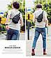 Городской рюкзак-сумка с одной лямкой через плечо и отверстием для наушников Arctic Hunter XB00032, 3л, фото 10