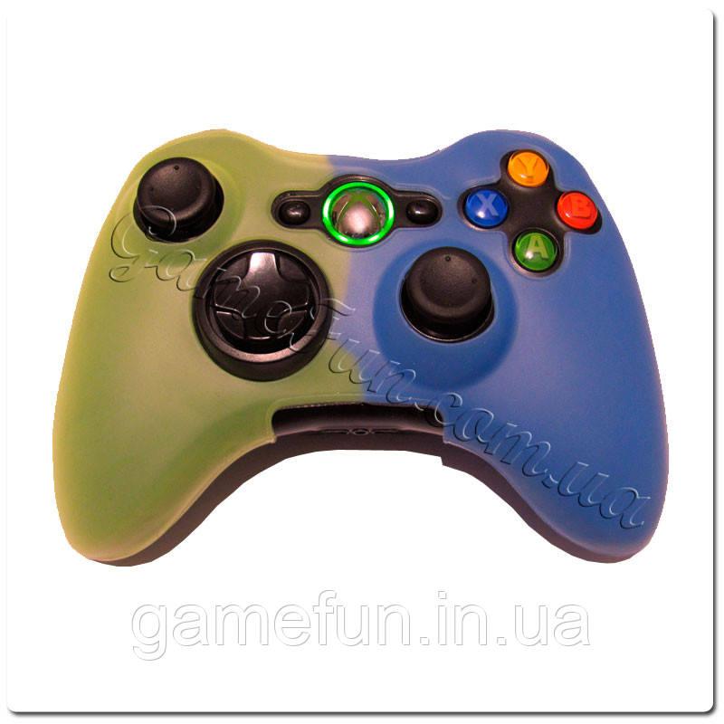 Силиконовый чехол для джойстика Xbox 360(Blue/Yellow)