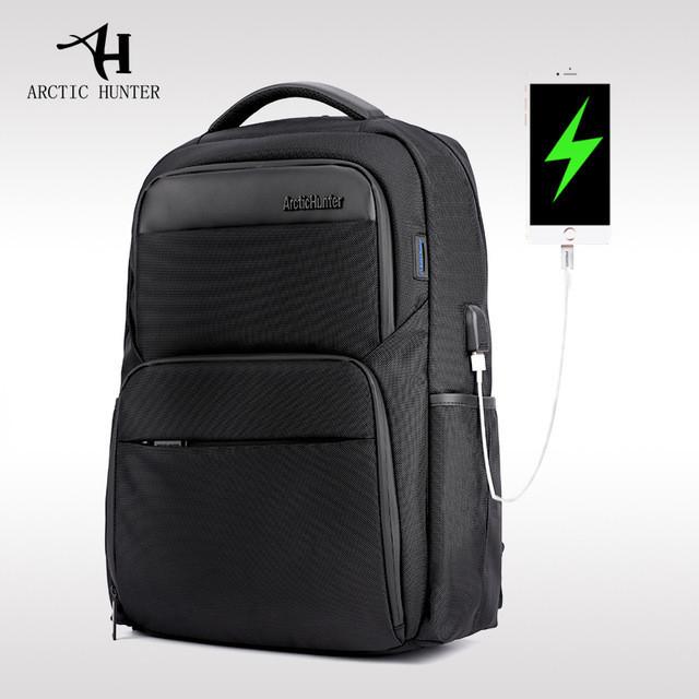 """Классический дорожный рюкзак для ноутбука до 15,6"""" Arctic Hunter B00113С, влагозащищённый, с USB портом, 28л"""